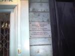 la plaque dédiée à Noureev