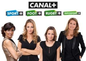 """les """"drôles de dames"""" du groupe canal +."""