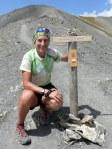 agnès hervé pose lors d'une sortie sur les sommets
