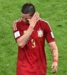 l'attaquant espagnol,  fernando torres, en larmes...