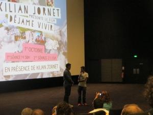 """Le champion présente son film """"Dejame Vivir"""" au Cinema Etoile Lilas, le 1er octobre."""
