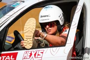 Du sport à l'aventure, il n'y a qu'un pas, Maud Garnier, en plein Rallye - crédits MG Events